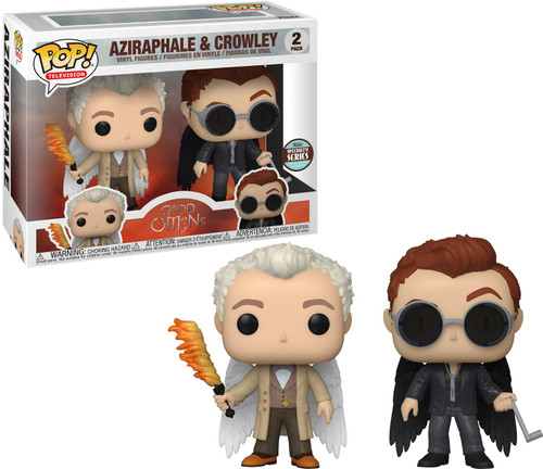 Funko Good Omens Specialty Series POP! TV Aziraphale & Crowley Exclusive Vinyl Figure 2-Pack [with Wings] (Pre-Order ships March)