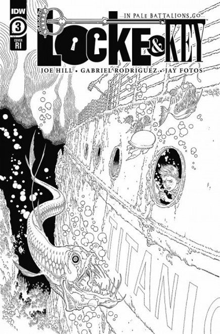 IDW Publishing Locke & Key: In Pale Battalions Go #3 Comic Book [Black and White Cover Variant]