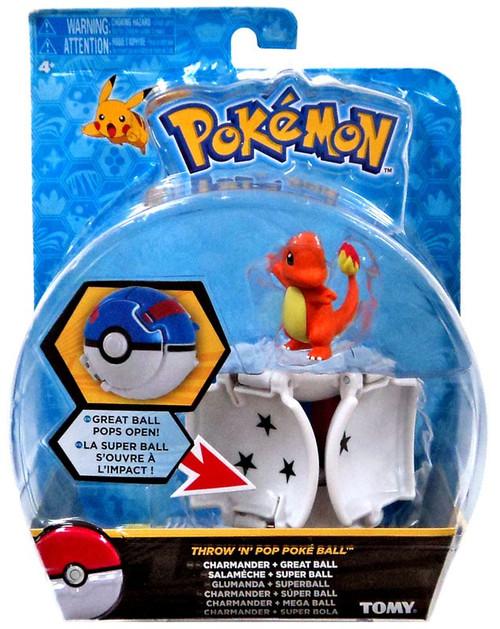 Pokemon Throw 'n' Pop Pokeball Charmander & Great Ball Figure Set [Damaged Package]