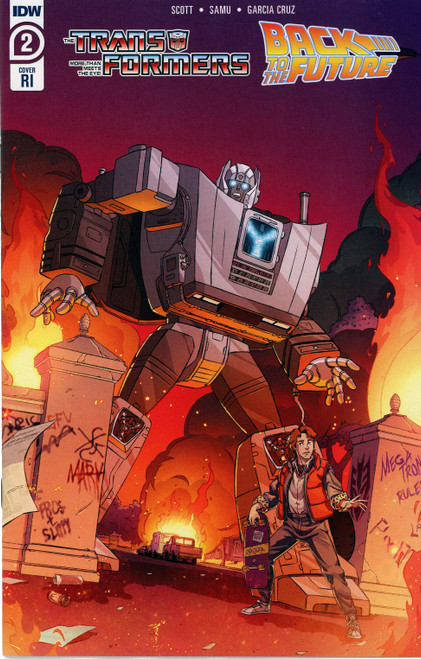 IDW Transformers Back to the Future #2 of 4 Comic Book [Schoenberg Variant]