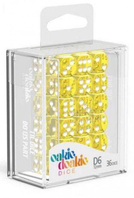 Oakie Doakie 6-Sided d6 Translucent Yellow 12mm Dice