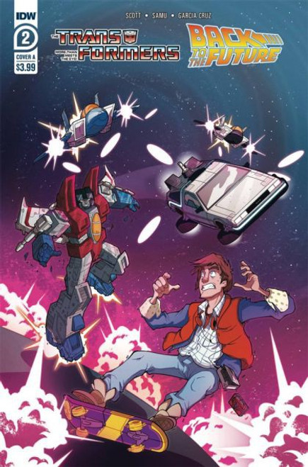 IDW Publishing The Transformers / Back To The Future #2B Comic Book