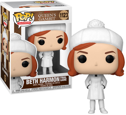 Funko The Queen's Gambit POP! Games Beth Harmon Vinyl Figure [White Winter Outfit & Hat, Finale] (Pre-Order ships April)