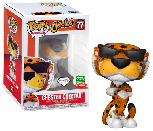 Funko Cheetos POP! Ad Icons Chester Cheetah Exclusive Vinyl Figure #77 [Diamond Collection]