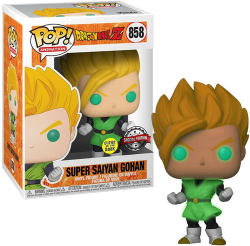 Funko Dragon Ball Z POP! Animation Super Saiyan Gohan Exclusive Vinyl Figure #858 [Glow-in-the-Dark]