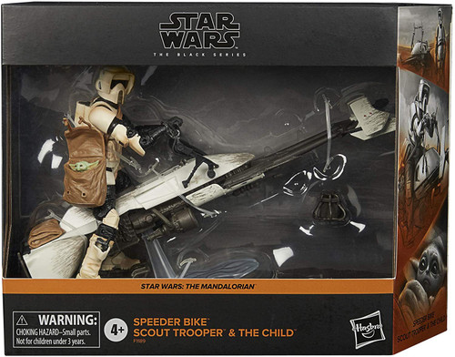 Star Wars The Mandalorian Black Series Speeder Bike with Scout Trooper & the Child Exclusive Action Figure Set