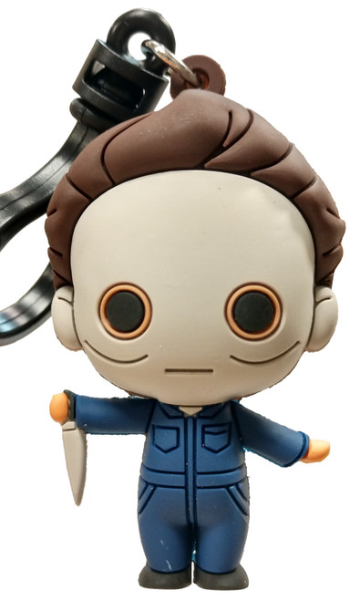 3D Figural Bag Clip Universal Vault Horror Series 1 Michael Myers Keychain [Halloween II Loose]