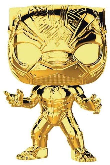 Funko Marvel Studios 10 POP! Marvel Black Panther Vinyl Bobble Head #383 [Gold Chrome, Loose]
