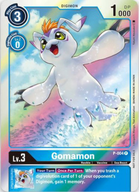 Digimon Card Game Promo Cards Promo Gomamon P-004