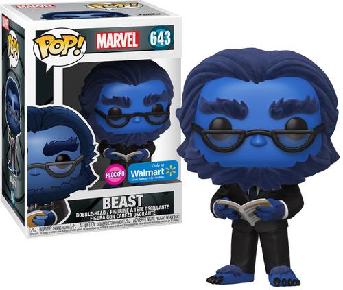 Funko X-Men 20th POP! Marvel Beast Exclusive Vinyl Figure #643 [Flocked]