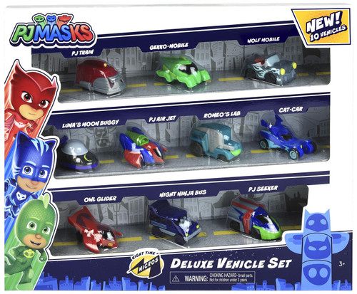 Disney Junior PJ Masks Night Time Micros Deluxe Vehicle Set