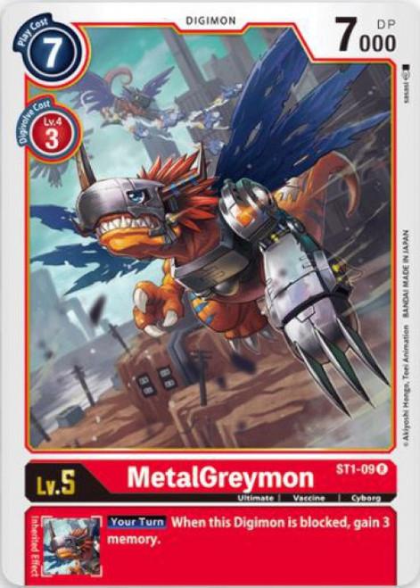 Digimon Card Game Starter Deck Gaia Red Rare MetalGreymon ST1-09