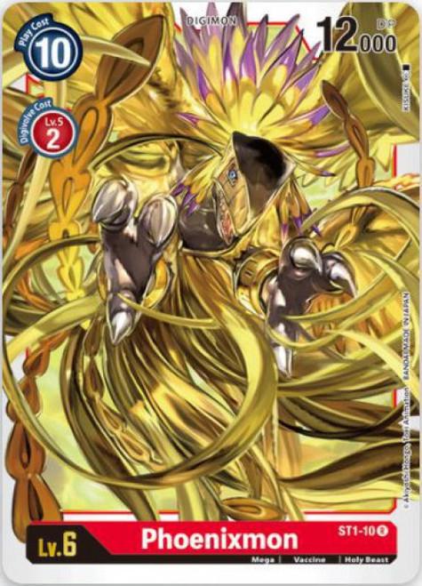 Digimon Card Game Starter Deck Gaia Red Rare Phoenixmon ST1-10