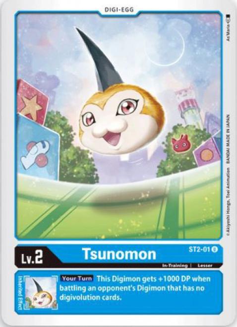 Digimon Trading Card Game Starter Deck Cocytus Blue Uncommon Tsunomon ST2-01