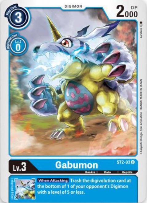 Digimon Card Game Starter Deck Cocytus Blue Uncommon Gabumon ST2-03