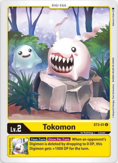 Digimon Trading Card Game Starter Deck Heaven's Yellow Uncommon Tokomon ST3-01