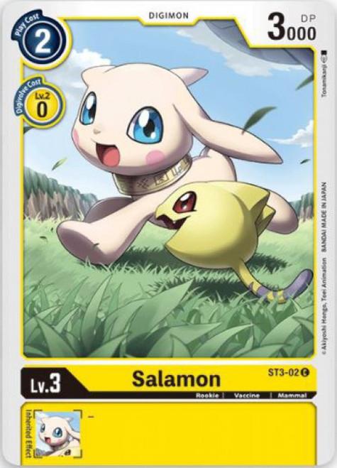 Digimon Trading Card Game Starter Deck Heaven's Yellow Common Salamon ST3-02