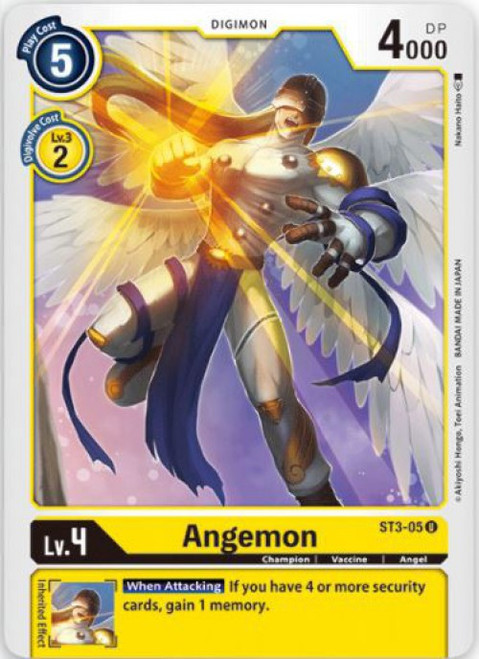 Digimon Trading Card Game Starter Deck Heaven's Yellow Uncommon Angemon ST3-05