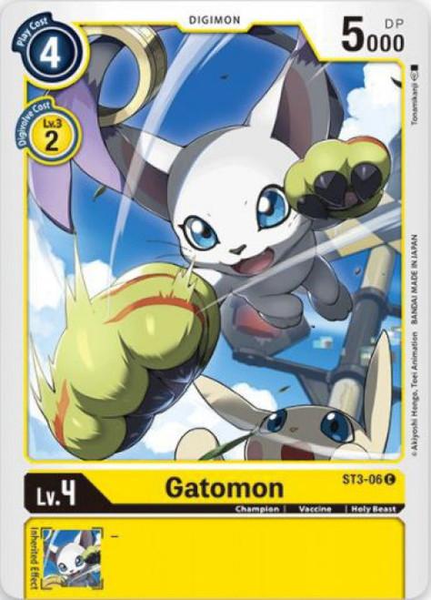 Digimon Trading Card Game Starter Deck Heaven's Yellow Common Gatomon ST3-06