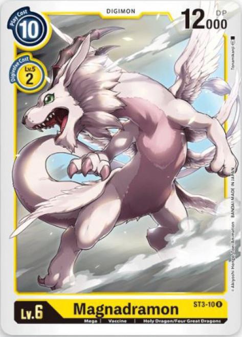 Digimon Trading Card Game Starter Deck Heaven's Yellow Rare Magnadramon ST3-10