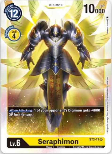 Digimon Trading Card Game Starter Deck Heaven's Yellow Super Rare Seraphimon ST3-11