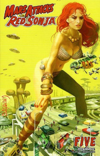 Dynamite Entertainment Mars Attacks Red Sonja #5A Comic Book