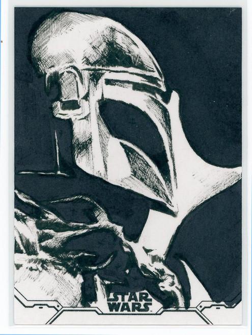 Star Wars Holocron Series The Mandalorian Rob Teranishi Sketch Card [Autographed!]