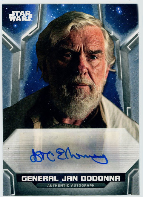 Star Wars Holocron Series 054/380 General Jan Dodonna [Autographed!]