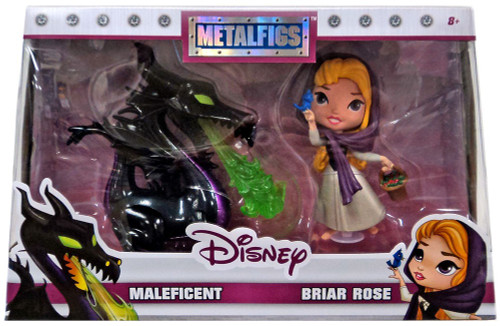 Disney Sleeping Beauty Metalfigs Maleficent & Briar Rose Exclusive Diecast Figure 2-Pack [Damaged Package]