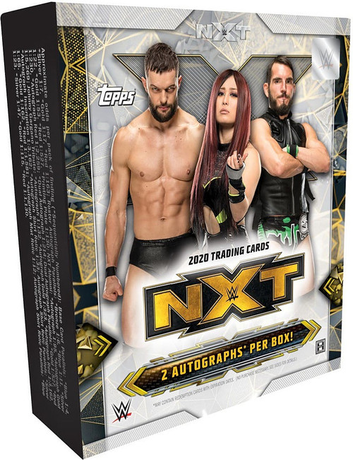WWE Wrestling Topps 2020 NXT Trading Card HOBBY Box [25 Cards, 2 Autographs!]