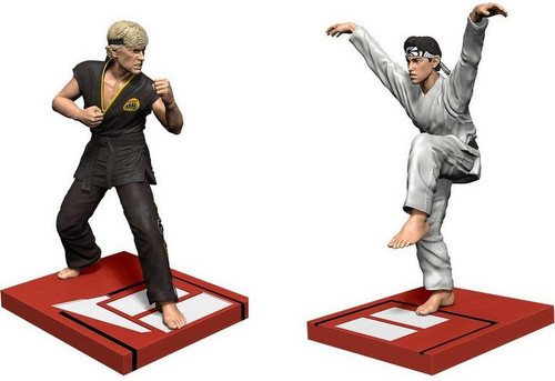 The Karate Kid All Valley Karate Championship Daniel vs Johnny Exclusive 8-Inch Statue Set