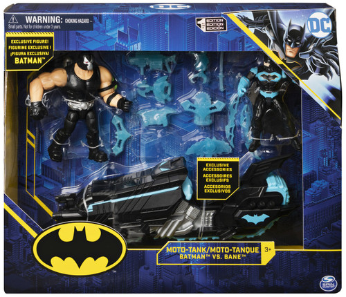 DC Batman Moto-Tank Exclusive Action Figure Set [Bane vs. Batman]