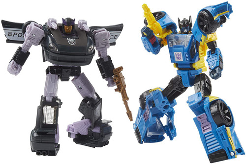 Transformers Generations War for Cybertron Galactic Odyssey Collection Dominus Criminal Pursuit Exclusive Deluxe Action Figure 2-Pack [Counterpunch & Barricade]