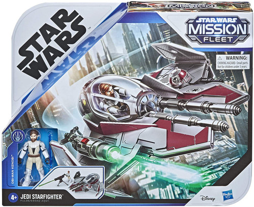Star Wars Mission Fleet Obi-Wan Kenobi & Jedi Starfighter Vehicle & Action Figure (Pre-Order ships February)