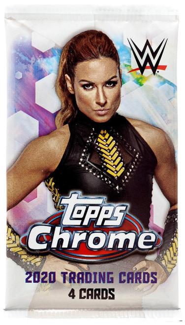 WWE Wrestling Topps 2020 Chrome Trading Card Pack [4 Cards]