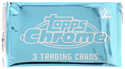 WWE Wrestling Topps 2020 Chrome Trading Card Pack [3 Exclusive X-Fractor Parallels]
