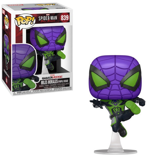 Funko Marvel Spider-Man POP! Games Miles Morales Vinyl Figure [Purple Reign] (Pre-Order ships April)