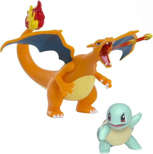 Pokemon Battle Figure Squirtle & Charizard 2-Inch Figure 2-Pack