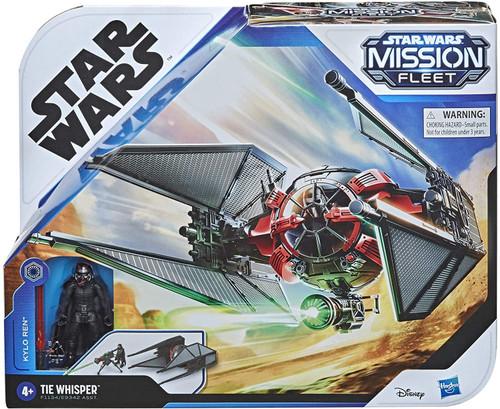 Star Wars Mission Fleet Kylo Ren & TIE Whisper Vehicle & Action Figure