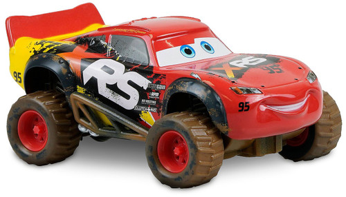 Disney / Pixar Cars Cars 3 Pull 'N' Race Lightning McQueen Exclusive Diecast Car [Mud Racer]
