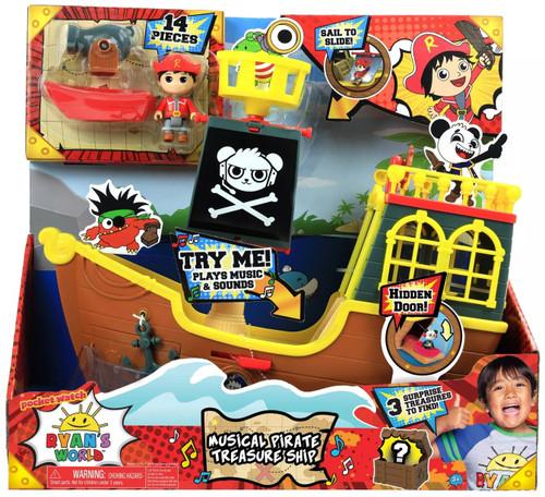 Pocket Watch Ryan's World Musical Pirate Treasure Ship Exclusive Playset