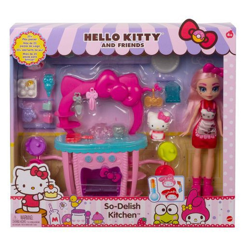 Sanrio Hello Kitty & Friends So-Delish 25-Piece Kitchen Playset [with Hello Kitty and Eclair Doll] (Pre-Order ships March)