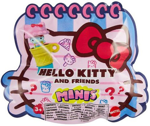 Sanrio MINIS Hello Kitty & Friends Mystery Pack [1 Surprise Stamper, Keychain & Pencil Topper]