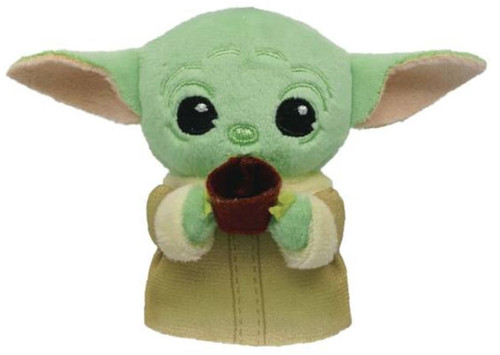 """Star Wars The Mandalorian The Child aka """"Baby Yoda"""" with Cup Plush Bag Clip [Loose]"""