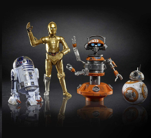Star Wars Galaxy's Edge Black Series R2-D2, BB-8, C-3PO & DJ R3X Exclusive Action Figure 4-Pack [Droid Depot]