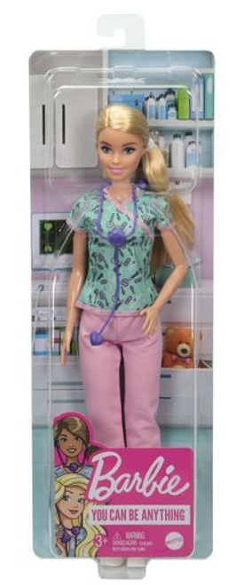 Nurse Barbie Doll [Aqua & Pink Scrubs]
