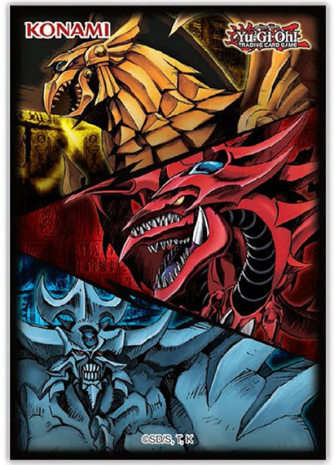 YuGiOh Trading Card Game Card Supplies Egyptian Gods Card Sleeves [50 Count] (Pre-Order ships July)