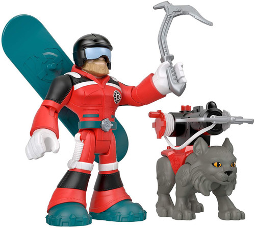 Fisher Price Rescue Heroes Al Valanche & Claws 5.5-Inch Figure Set