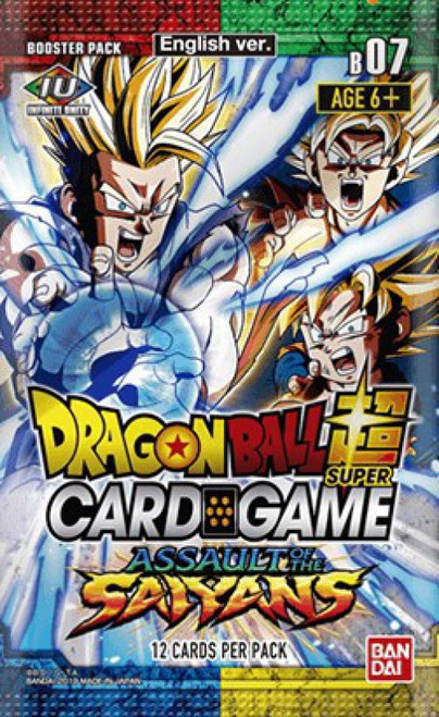 Dragon Ball Super Collectible Card Game Series 7 Assault of the Saiyans Booster Pack DBS-B07 [12 Cards]