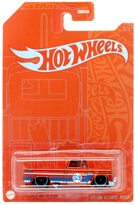 Hot Wheels 53th Anniversary Custom '62 Chevy Pickup Diecast Car #3/5
